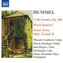 Hummel:  Cello Sonata, Piano Trios, Piano Quartet thumbnail